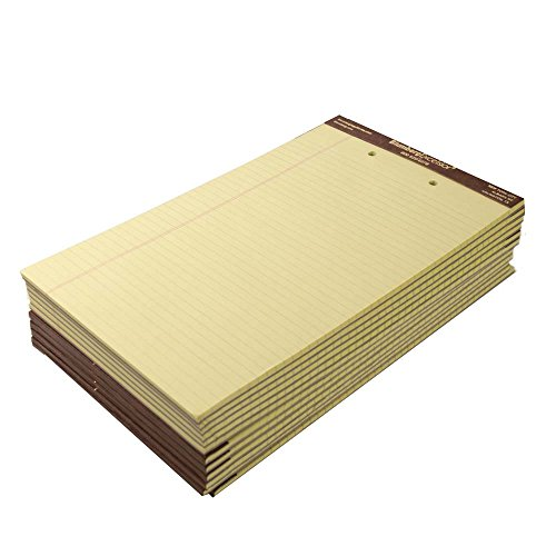 Premium Classic Yellow Legal Pads (8-1/2 x 14, Left Ruled Plain 2-Hole Punched)