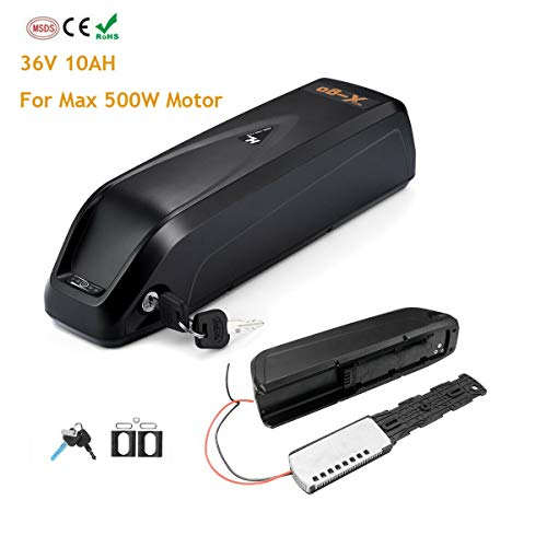 HXC E-Bike Battery Li-Ion 36V 14.5 Ah met oplader en veiligheidsplaat, voor elektronica, fiets, e-bike, accu Li-ion fietsaccu, vervangende e-bike-accu