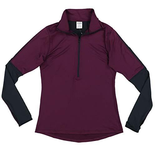 Victoria's Secret Pink Ultimate Half Zip Pullover Jacket (Small, Burgundy)