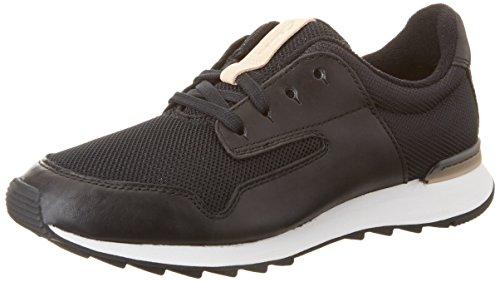 Clarks Floura Mix, Zapatillas para Mujer, Negro (Black Leather-), 37.5 EU