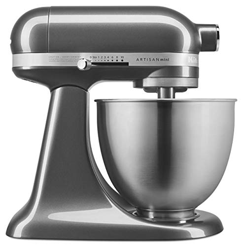 KitchenAid KSM3311XQG Artisan Mini 3.5 Quart Tilt-Head Stand Mixer, Qt, Liquid Graphite