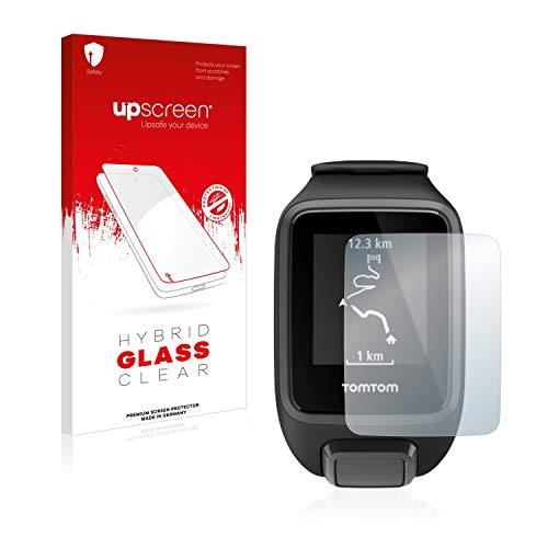 upscreen Pellicola Vetro Temperato Compatibile con Tomtom Spark 3 Protezione Schermo Hybrid Glass - 9H Durezza