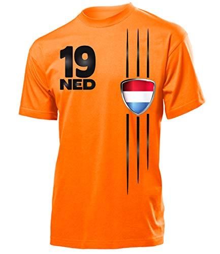 Holland Niederlande Netherlands Nederland Fanshirt Fussball Fußball Trikot Look Jersey Herren Männer t Shirt Tshirt t-Shirt Fan Fanartikel Outfit Bekleidung Oberteil Hemd Artikel