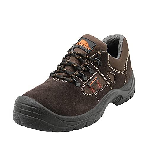 KAM-LITE Zapatos de Seguridad Hombre S1 Botas de Seguridad Punta de Acero Antideslizante Ligero Transpirable Zapatos de Trabajo Zapatillas de Seguridad Hombre Trabajo de Industria y Cocina