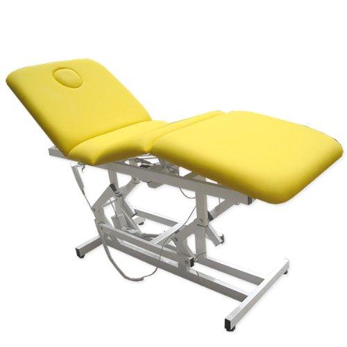 eyepower 3-Zonen Massageliege Elektrische Behandlungsliege Kosmetikliege Gelb
