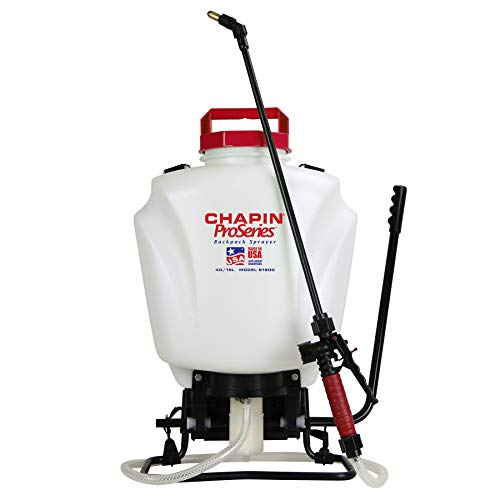 CHAPIN 61800 4Gal Backpack Sprayer, 4-Gallon, Translucent White