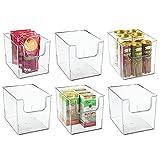 mDesign Cajas de almacenamiento para alimentos – Organizador de...