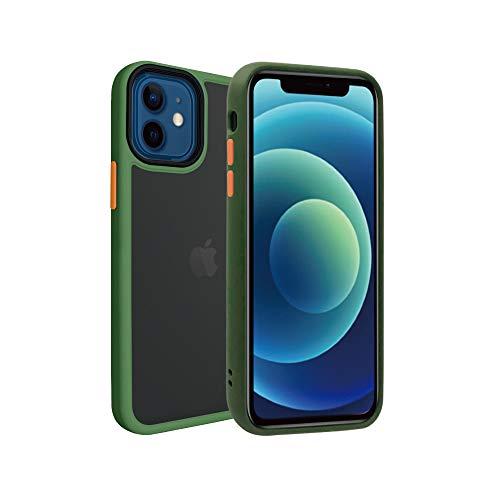 シズカウィル(shizukawill) Apple iPhone12 mini アクティブハイブリッド ケース 米軍MIL規格準拠 耐衝撃 高耐傷 カバー 背面 スモーククリア ナノコーティング加工 ストラップホール付 ストラップ付 iPhone 12 mini アイフォン12 iphone12 ミニ Active Hybrid 端末 ケース カバー Military Green色