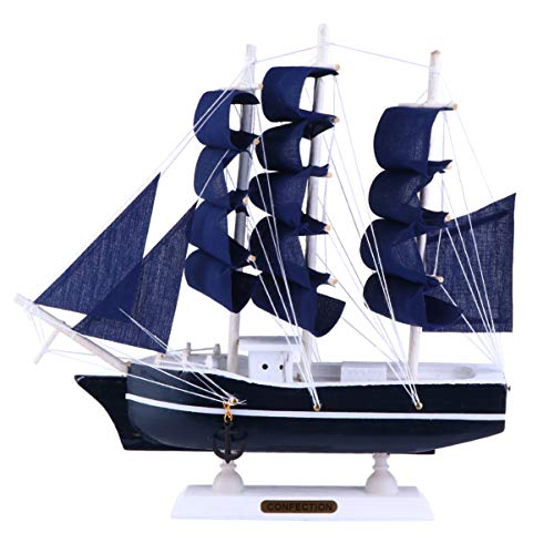 OUNONA 帆船模型 船 模型 木製 帆船モデル 写真道具 卓上飾り 航海装飾 置物 卓上 装飾 贈り物 プレゼント(1)