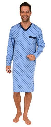 Trend by Normann Tolles Herren Nachthemd Langarm in toller Optik - 62672, Größe2:52, Farbe:hellblau