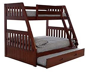 Merlot Twin Over Full Bunk Bed With Trundle
