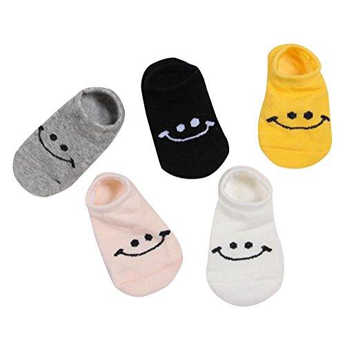 [Smile] Chaussettes colorées, 1-3Y Chaussettes mignonnes Set, 5 paires