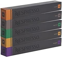 Nespresso Surtido con 50 cápsula