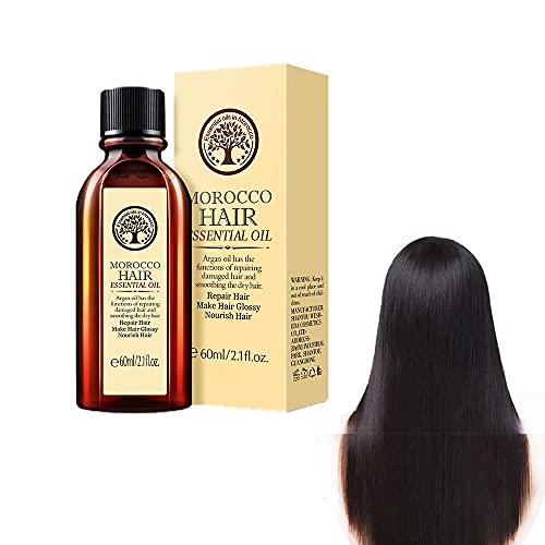 Hidratante multifuncional para el cuidado del cabello y el cuero cabelludo, aceite esencial portátil de Marruecos que repara las puntas abiertas del cabello encrespado y anudado