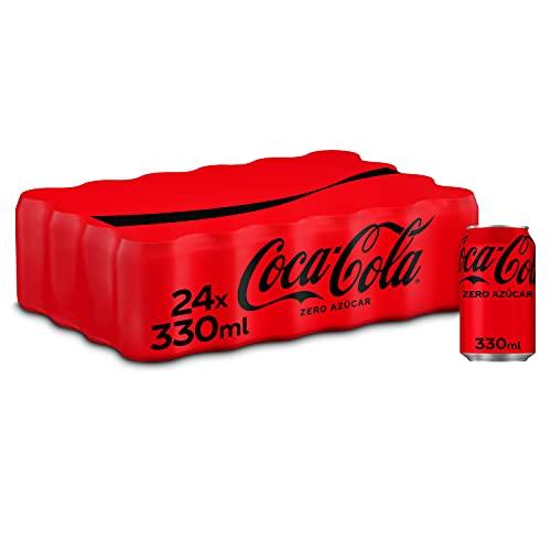 Coca-Cola Zero Azúcar - Refresco de cola sin azúcar, sin calorías - Pack 24 latas 330 ml