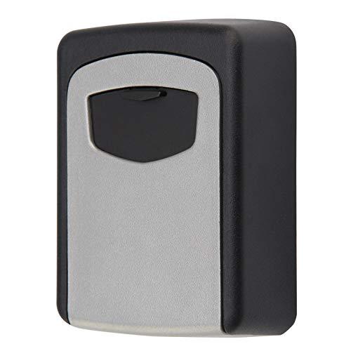 Caja de almacenaje Caja de llaves de bloqueo de pared montado en la pared aleación de aleación de aluminio Caja segura a prueba de intemperie 4 dígitos combinación llave de almacenamiento caja de bloq
