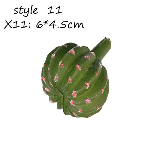 aolongwl Planta Artificial Suculentas Artificiales Planta Jardín Miniatura Cactus Falso DIY Hogar Decoración Floral Boda Oficina Jardín / 5 Piezas