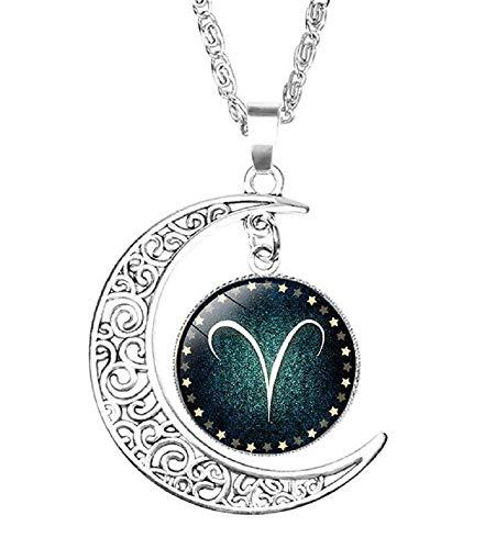 Ketting - symbool - ketting - hanger - dierenriem - teken - dierenriem - astrologie - horoscoop - astrologisch - maan - zilveren kleur - vakantie - vrouw - man - juwelen