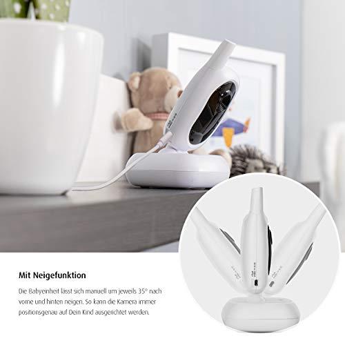 reer 80420 BabyCam Video Babyphone, 300 m Reichweite, 50 Grad Weitwinkel-Kamera, 2,4″ TFT Display, weiß - 6