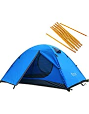 3 Season 2-Person Double Layer Waterproof Dome Backpacking Tent Aluminum Rod Windproof for Camping Hiking Travel Climbing