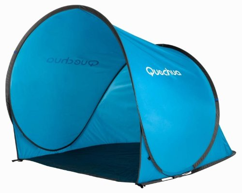 Quechua Refugio with popup system assembly in 2 seconds blue