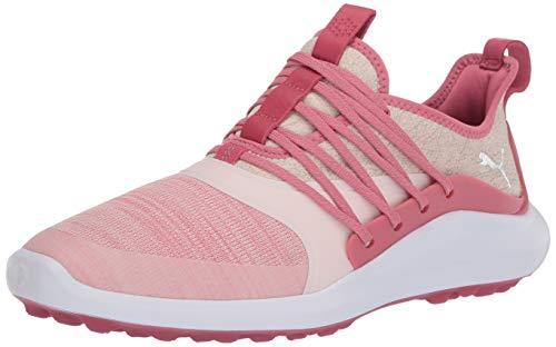 Puma Golf Women's Ignite Nxt Solelace Golf Shoe, Rapture Rose-Metallic Silver, 10.5 M US