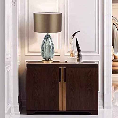KFJZGZZ Villa Modelo habitación Americana Minimalista Sala Dormitorio Noche lámpara de Cama Vidrio Vidrio lámpara Elegante