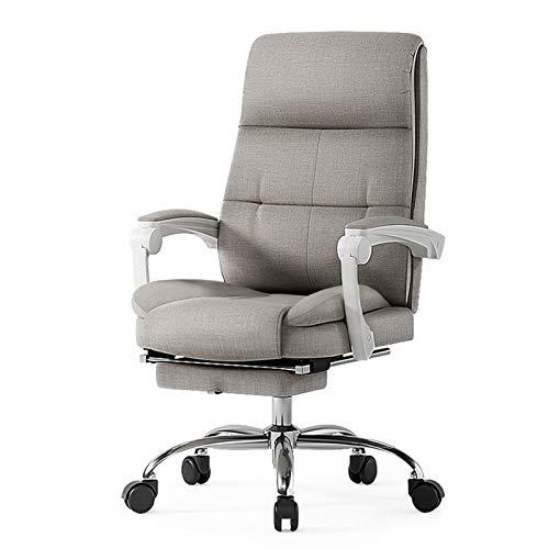 BIAOYU Silla de oficina de tela para el hogar, silla giratoria reclinable, silla de oficina ergonómica silla de ordenador con reposabrazos ajustable