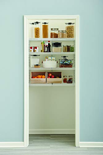 "Rubbermaid Pantry 36"" Closet Storage Organization System Kit, 4 Shelf System for Pantry Storage, White"