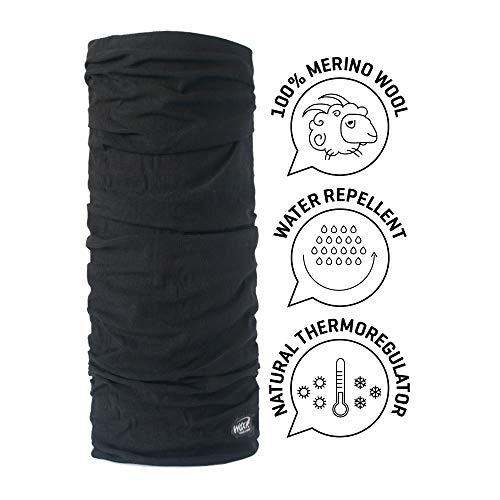 WIND X-TREME Merino Wool Scaldacollo, Grigio/Extrablack, Taglia Unica