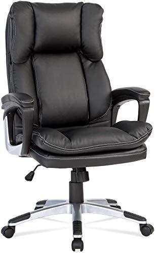 Tywk Alto en Cuero Negro Silla de Oficina Silla ejecutiva Escritorio de la computadora de la PU de la PC