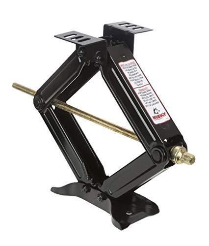 HUSKY TOWING 88134 Set of 2 Black Mechanical 20' H Scissor Jacks with 5000lb Cap