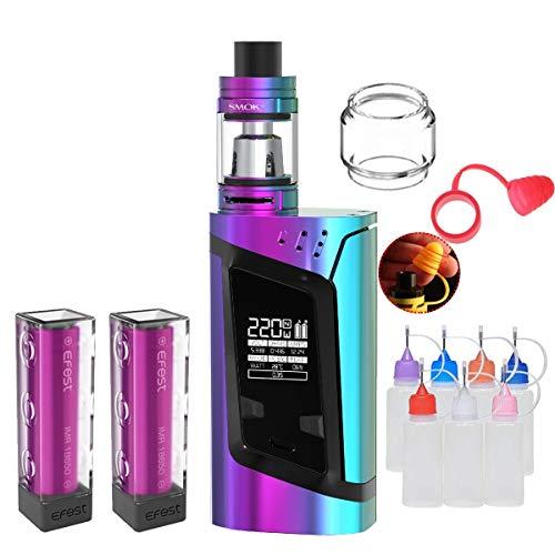 E Zigarette, Original Smok RHA220W(Alien) Kit mit TFV8 Baby Tank, Verdampfer Starter Set und 2 * 3000mAh Wiederaufladbare Efest-Batterien, Ohne E-Liquid, Ohne Nikot (Volle Farbe)