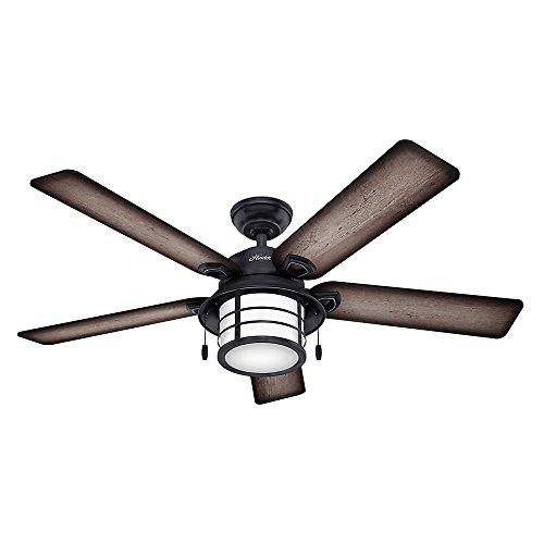 Hunter Key Biscayne Indoor / Outdoor Ceiling Fan with LED Light and Remote...