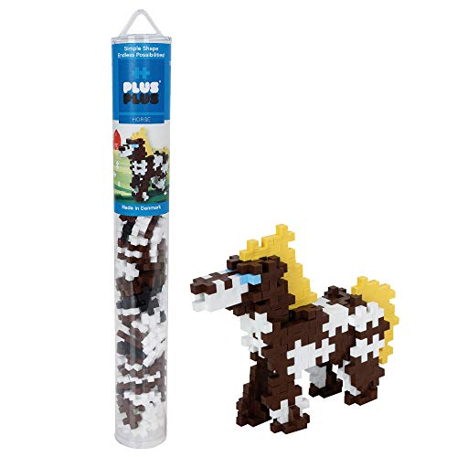 Plus-Plus 300.4116 Horse pcs Tube Pferdeschlauch-Mix (100 Stück), Mehrfarbig, Standard