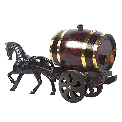 QinWenYan Barril Envejecido Barril de Madera Barril Barril Transporte de Caballo Decoración del Barril de Vino Decoración de Vino Barril de Vino para casa (Color : Wood, Size : 70x35cm)