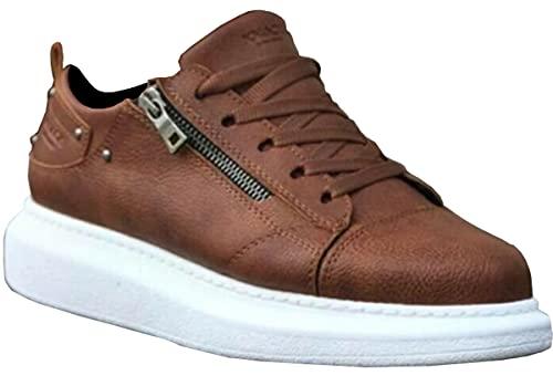 Knack 555 - Zapatos para hombre, estilo casual, para uso diario, ligeros, transpirables, para caminar, color marrón, Brown, 41 1/3 EU