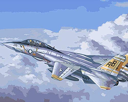 ZYCD Pintura Digital Color Relleno Hecho a Mano Decoración de Regalo Militar Segunda Guerra Mundial Portaaviones Buque de Guerra