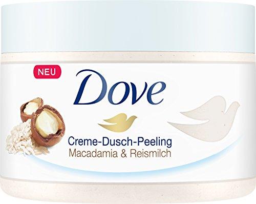 Dove Dove Creme-Dusch-Peeling Macadamia und Reismilch, 225 ml, 259 g