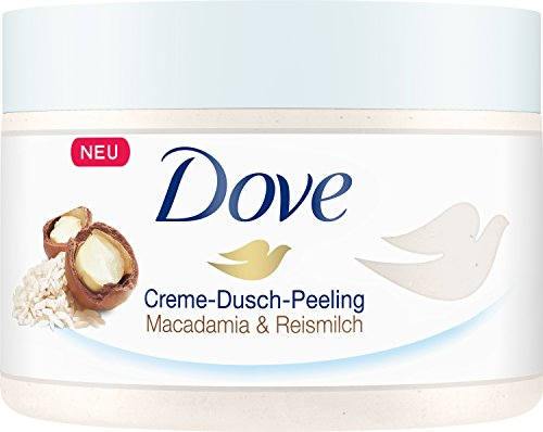 Dove douche peeling Macadamia & rijstmelk, 4-pack (4 x 225 ml)