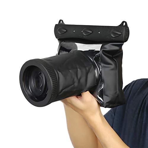 Jingyig Estuche Impermeable, Estuche Impermeable, Accesorios para cámaras DSLR subacuáticas Transparentes Carcasa de cámara Bolsa para Buceo Natación
