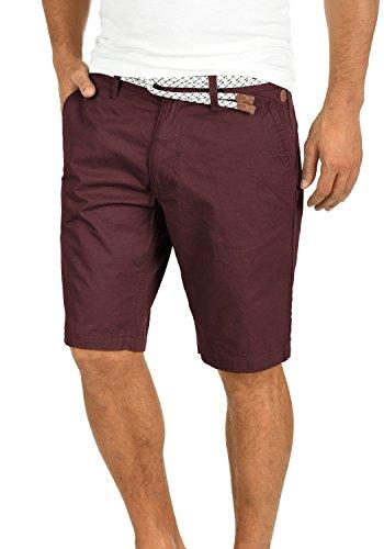 Blend Ragna Herren Chino Shorts Bermuda Kurze Hose Mit Kordel-Gürtel Aus 100% Baumwolle Regular Fit, Größe:M, Farbe:Wine Red (73812)