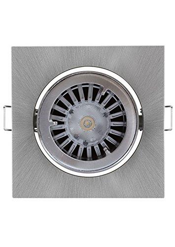 Osram LED-Einbaustrahler-Set Quadratisch Nickel gebürstet, 1x 4.5W KIT-LED-PRO-S-BR-NI-4,5W