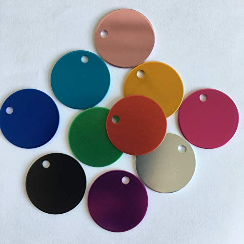 Colorful Round Anodized Aluminum Stamping Blanks Discs 25mm (Pack of 10) (Color Mix)
