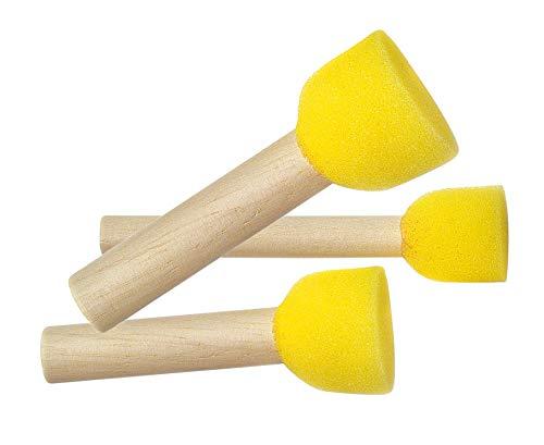 RAYHER–3843400–Schwammstempel, 3Größen, 3Stück, Größen 10, 20, 3