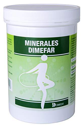 DIMEFAR - Minerales - Remineralizante - Complemento Alimenticio de 100% Minerales, Ca + Fe + Cr + Mo + Mg + K + Mn + Zn + Si + Cu, 500 Cápsulas | Complemento para el Organismo con Base de Minerales