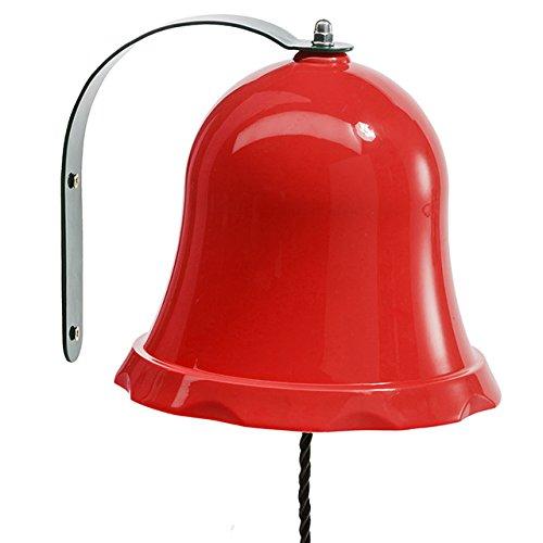 Campana in metallo rosso giocattolo per bambini casetta giocattolo gioco torre di giardino del mondo Riegelsberger