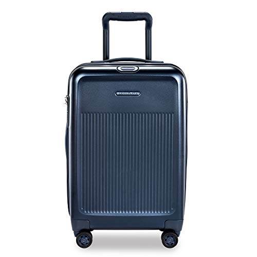 Briggs & Riley Sympatico Hardside Domestic Spinner Luggage, Matte Navy, 22-Inch Carry-On