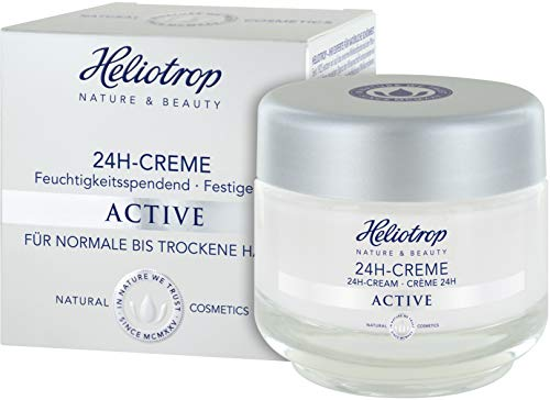 HELIOTROP Naturkosmetik ACTIVE 24h-Creme, Mit wirkungsvollem Straffungseffekt, Versorgt die Haut 24h mit Feuchtigkeit, Mildert Fältchen, 50ml