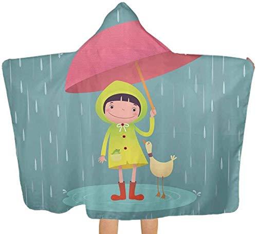 Bernice Winifred Toalla de bao Grande Manta para nia con Duck Friend Toallas absorbentes con Capucha Premium para beb, nio pequeo, beb150x200cm (59.1x78.7 '')